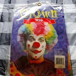 Halloween Clown Rainbow Wig NWT